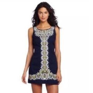 RARE Lilly Pulitzer Navy Blue Delia Shift Dress